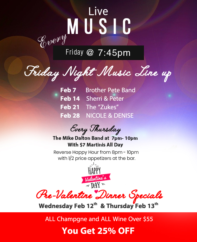Music Calender at Fratello's