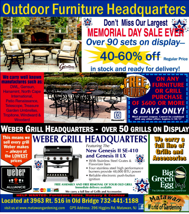memorial day sale at matawan world of gardening