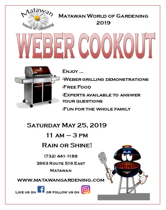Weber cookout event matawan world of gardening