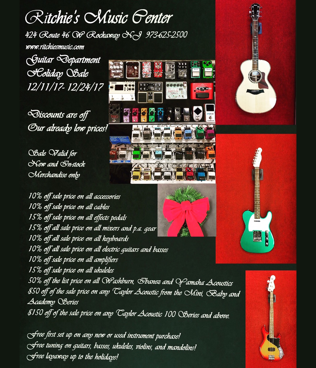 Holiday sale at Ritchie's Music NJ